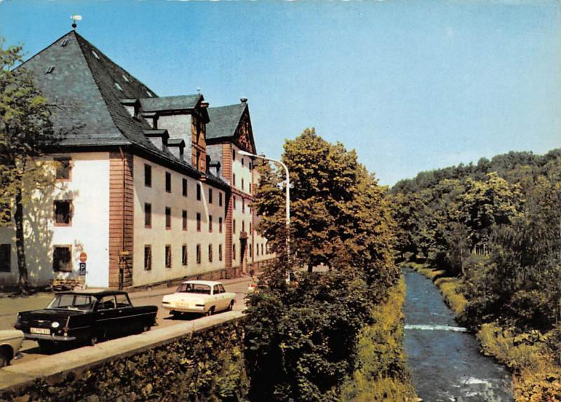 Osterode Harz Kornhaus Auto Vintage Cars River