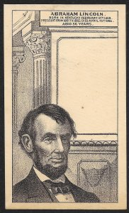 VICTORIAN TRADE CARDS (9) President Statistics Cards Lincoln Jefferson & Others