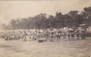 Military Band Soldiers Posing In Uniform Real Photo