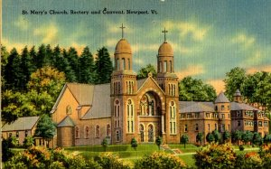 VT -  Newport. St. Mary's Church, Rectory & Convent
