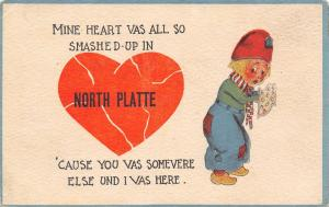 North Platte NE My Heart Vas Smashed Cause You Vas Somevere Else~1913 Dutch PC