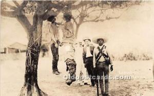 Real Photo Occupation and People Working Hanging Execution in Mexico, Mexican...