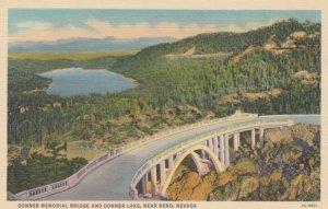 RENO, Nevada, 1930-40s; Donner Memorial Bridge and Donner Lake