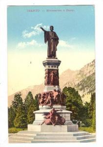 TRENTO, Monumento a Dante, Trentino Alto Adige, Italy, 00-10s