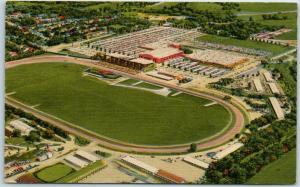 Omaha, Nebraska Postcard AERIAL VIEW OF AK-SAR-BEN FIELD Linen 1957 Cancel