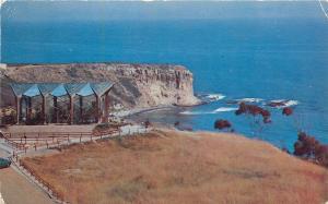 Rancho Palos Verdes California~Aerial View Wayfarers Chapel~1950s Postcard