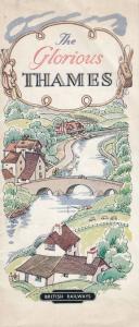 Glorious Thames River 1950s Guide Book Map 1953 Rare Timetable London Ephemera