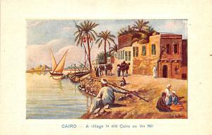 Cairo Egypt, Egypte, Africa Village in old Cairo on the Nil Cairo Village in ...