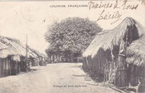 Colonies Francaises , Village au bord de la mer , PU-1908