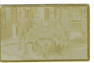 WW1 SOLDIERS RP FADED PHOTO  PUBLISHER HUTCHINSON