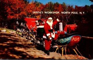 New York North Pole Santa's Workshop Santa's Sleigh 1962