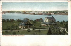 Rockland ME From the Samoset c1905 Postcard