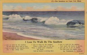 Massachusetts Cape Cod I Love The Walk By The Seashore by Theodore R Rowley 1...