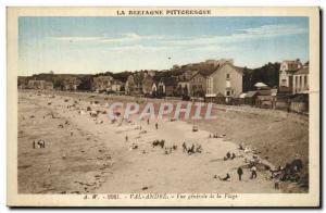 Postcard Old Val Andre Vue Generale de la Plage