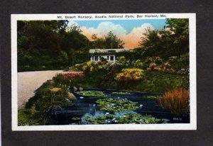 ME Acadia National Park Mt Desert island Nursery Bar Harbor Maine Postcard