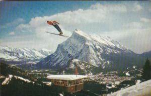 Canada Banff Ski Jump With Judges Tower On Mount Norquay