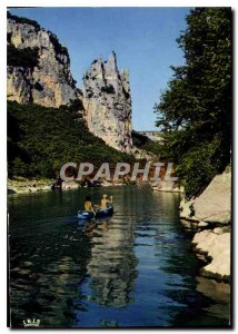 Postcard Modern Ardeche Picturesque The Cathedral Rocks in the Gorges de l'Ar...
