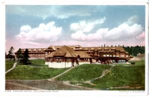 YELLOWSTONE, CANYON HOTEL, DIVIDED BACK