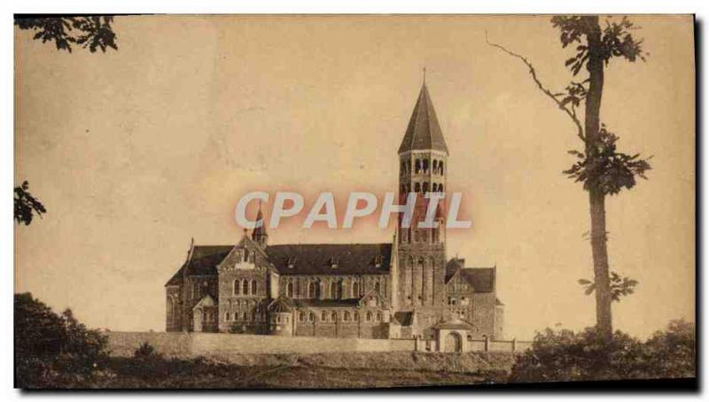 VINTAGE POSTCARD Clervaux the church of the abbey