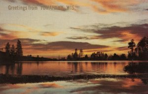 TOMAHAWK , Wisconsin , 50-60s ; Greetings, Lake Sunset
