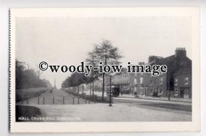 tp8975 - Tram at Hall Cross Hill , Doncaster , Yorkshire - postcard