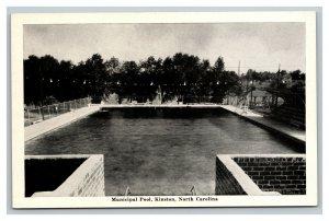 Vintage 1940's Postcard Municipal Pool in Kinston North Carolina