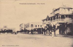 Place Menelik, Souvenir De Djibouti, Africa, PU-1924