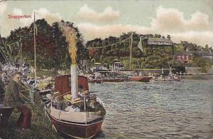 Shepperton,borough of Spelthorne, Surrey , England., 00-10s ; small steamship