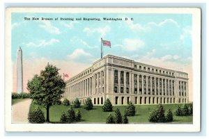 New Bureau of Printing and Engraving Washington D.C. Monument Vintage Postcard