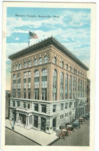 Masonic Temple, Zanesville, Ohio, 1910s unused Postcard