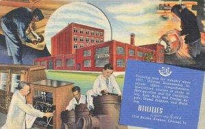 Chicago IL Utilities Engineering Institute Advertising Curt Tech Linen Postcard