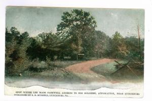 Roanoke, Virginia to Fort Worth, Texas 1907, Lee's Farewell, Appomattox