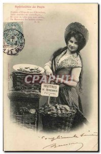Old Postcard Fantaisie Specialties Oysters of Marennes