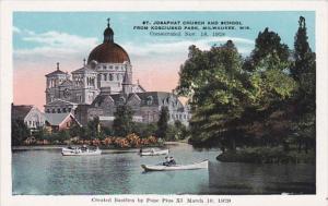 Wisconsin Milwaukee St Josaphat Church and School From Kosciusko Park