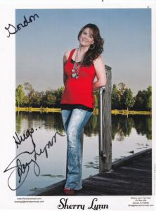Sherry Lynn Country & Western Music Singer Fan Club Large Hand Signed Photo