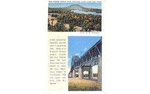 New Bourne Bridge in Cape Cod, Massachusetts over Cape Cod Canal.