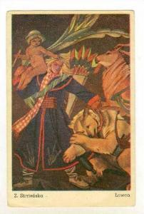 Art Card  Poland by artist Z. Stryjenska,  LOWCA , 00-10s