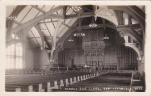 RP: EAST NORTHFIELD , Massachusetts , PU-1924 ; Russell Sage Chapel interior