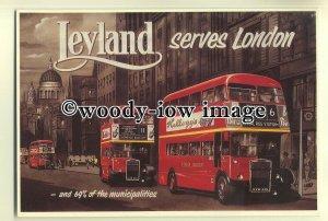tm5617 - London Transport Leyland Buses - art postcard