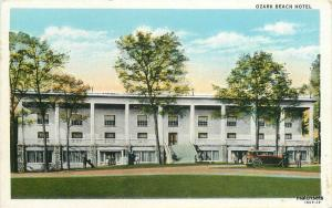 Bradford Teich 1940s Ozark Missouri Beach Hotel postcard 10279