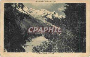 Old Postcard Chamonix Mont Blanc and L'Arve