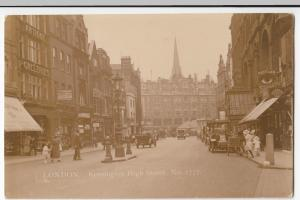 London; Kensington High Street RP PPC, By C&AG Lewis, Unposted, c 1910