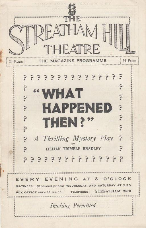 William Freshman of the Scarlet Pimpernel 1930s Film Streatham Theatre Programme