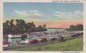 Kentucky Louisville Municipal Boat Harbor 1951 Curteich