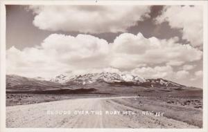 Clouds Over The Ruby Mountains Nevada Real Photo