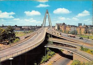 Koeln Severinsbruecke Bridge Road Tram Auto Cars