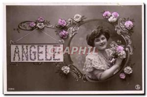 Postcard Old Angele Surname