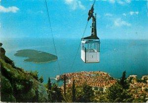 Funicular railway Dubrovnik Croatia cableway telpher postcard