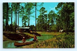 Postcard FL Walt Disney World Fort Wilderness Camping Tri Circle D Ranch A38