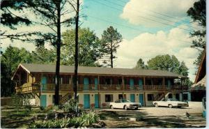EUREKA SPRINGS, AR Arkansas   SWISS VILLAGE MOTEL 1971 Cars Roadside   Postcard